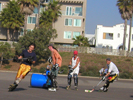 Santa Monica Beach Inline Hockey