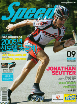 Jonathan Seutter on the cover of Speed Magazine